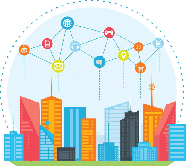 graphic of smart city applications