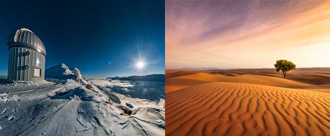 frozen tundra compared to desert