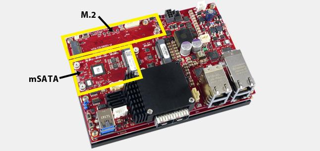 mSATA and M.2 sockets